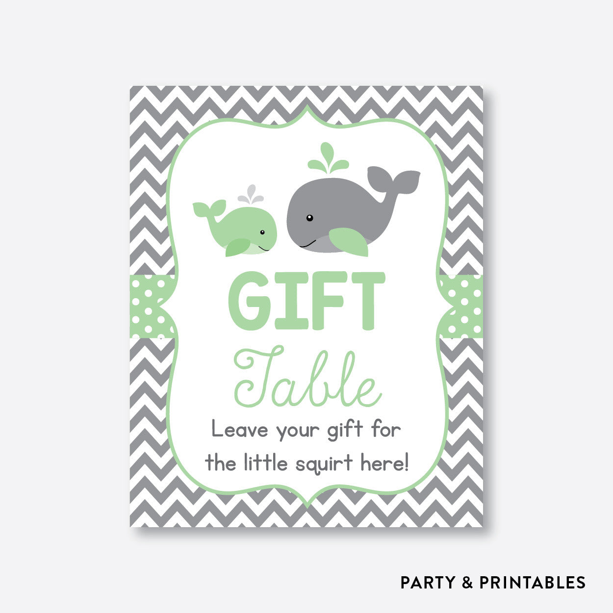 Whale Party Signs / Non-Personalized / Instant Download (SBS.56), party printables - Party and Printables