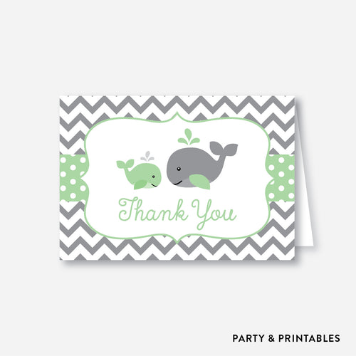Whale Baby Shower Thank You / Non-Personalized / Instant Download (SBS.56)