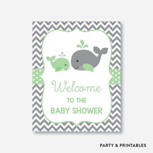 Whale Welcome Sign / Non-Personalized / Instant Download (SBS.56)