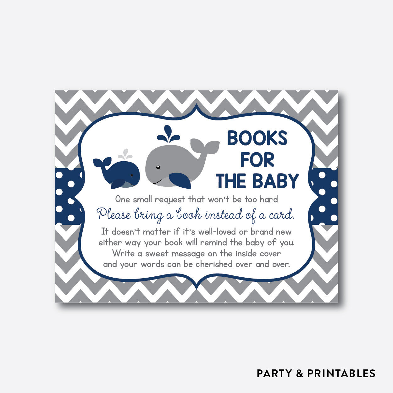 Whale Books For The Baby / Non-Personalized / Instant Download (SBS.57), party printables - Party and Printables