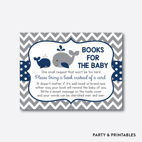 Whale Books For The Baby / Non-Personalized / Instant Download (SBS.57)