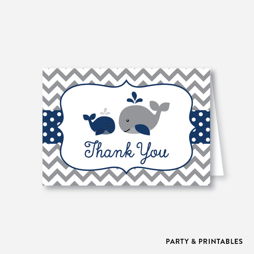 Whale Baby Shower Thank You / Non-Personalized / Instant Download (SBS.57)