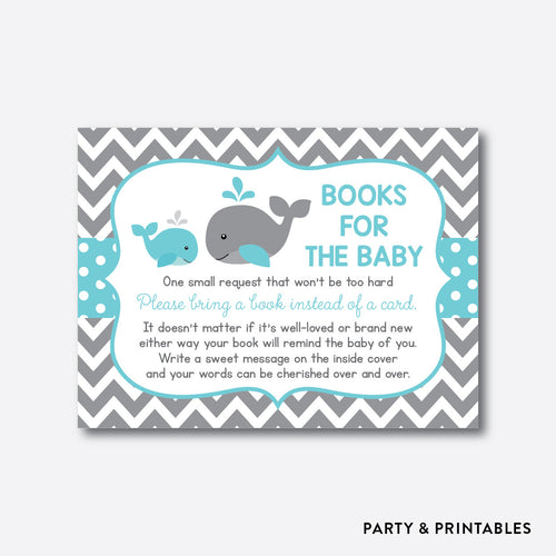 Whale Books For The Baby / Non-Personalized / Instant Download (SBS.58)
