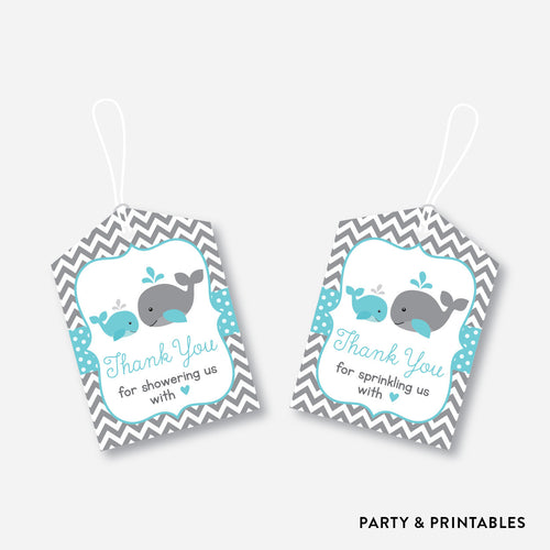 Whale Favor Tags / Non-Personalized / Instant Download (SBS.58)