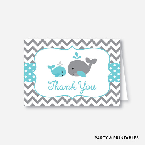 Whale Baby Shower Thank You / Non-Personalized / Instant Download (SBS.58)