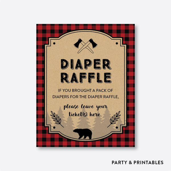 Lumberjack Diaper Raffle / Non-Personalized / Instant Download (SBS.95)