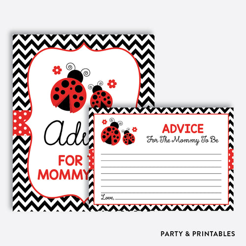 Ladybug Advice For The Mommy To Be / Non-Personalized / Instant Download (SBS.96)
