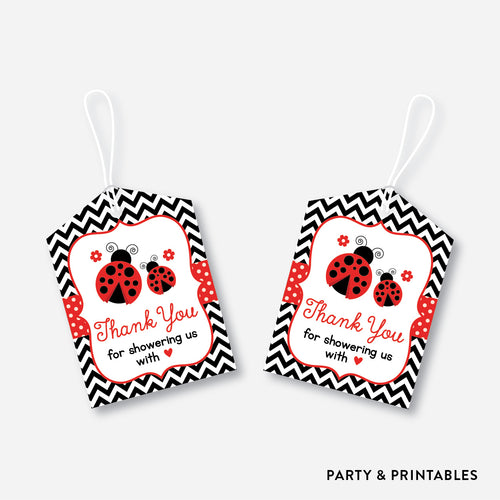 Ladybug Favor Tags / Non-Personalized / Instant Download (SBS.96)