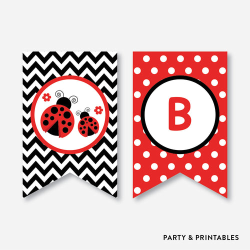 Ladybug Party Banner / Baby Shower Banner / Non-Personalized / Instant Download (SBS.96)