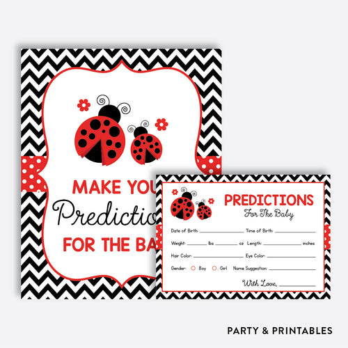 Ladybug Predictions For The Baby / Non-Personalized / Instant Download (SBS.96)