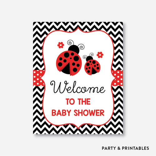 Ladybug Welcome Sign / Non-Personalized / Instant Download (SBS.96)