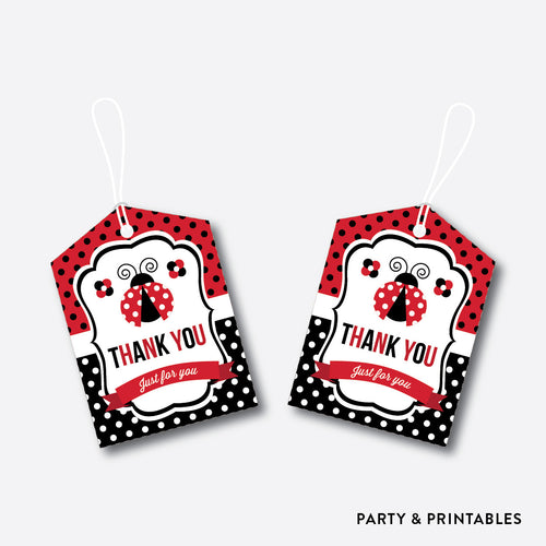 Ladybug Favor Tags / Non-Personalized / Instant Download (SKB.03)