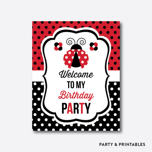 Ladybug Welcome Sign / Non-Personalized / Instant Download (SKB.03)