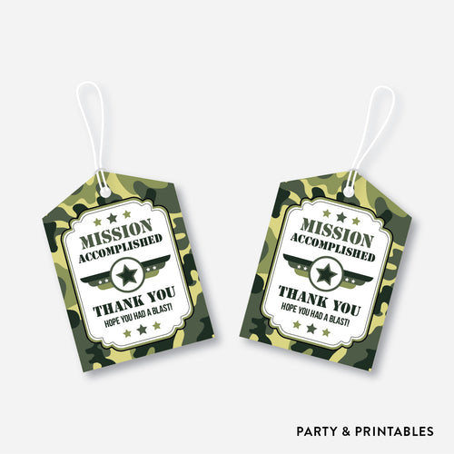 Camouflage Favor Tags / Non-Personalized / Instant Download (SKB.06)