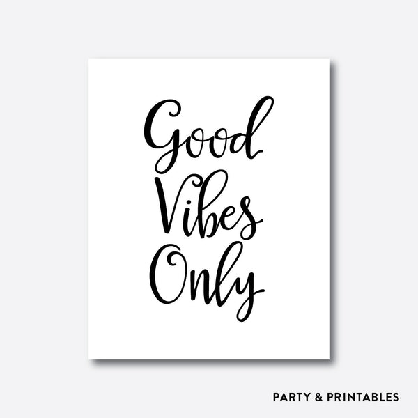 Good Vibes Only Wall Art / Instant Download (WA.01), wall art - Party and Printables