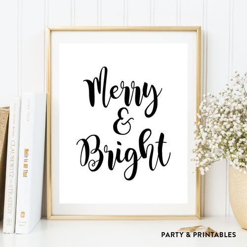 Merry and Bright Wall Art / Instant Download (WA.02)