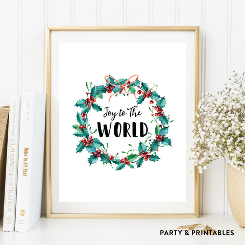 Joy To The World Wall Art / Instant Download (WA.03)