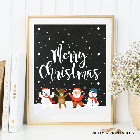 Merry Christmas Wall Art / Instant Download (WA.04)