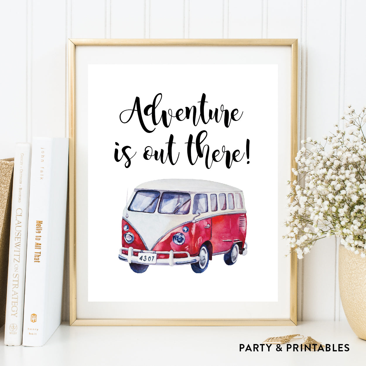 Adventure Is Out There Wall Art / Instant Download (WA.07), photo booth props - Party and Printables