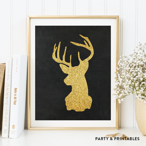 Deer Silhouette Wall Art / Instant Download (WA.08), wall art - Party and Printables