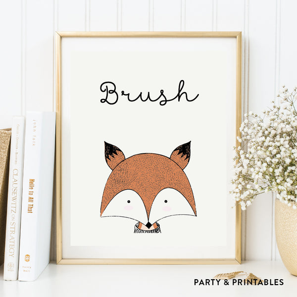 Wash Brush Floss Flush Wall Art / Instant Download (WA.12), photo booth props - Party and Printables