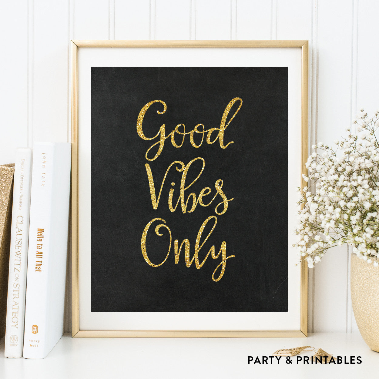 Good Vibes Only Wall Art / Instant Download (WA.14), wall art - Party and Printables