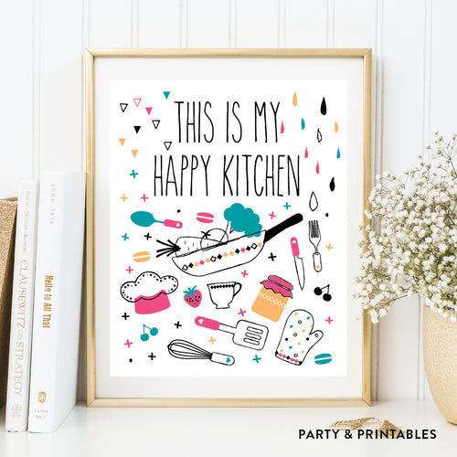 This Is My Happy Kitchen Wall Art / Instant Download (WA.17)