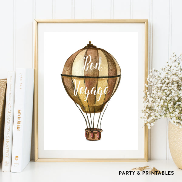 Bon Voyage Wall Art / Instant Download (WA.28), wall art - Party and Printables
