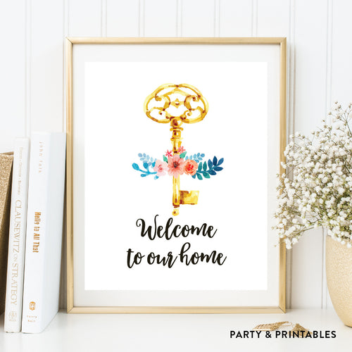 Welcome To Our Home Wall Art / Instant Download (WA.30)
