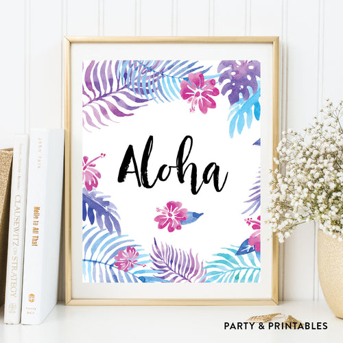 Aloha Wall Art / Instant Download (WA.34)