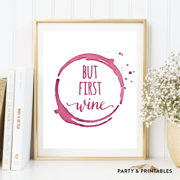 But First Wine Wall Art / Instant Download (WA.36), wall art - Party and Printables
