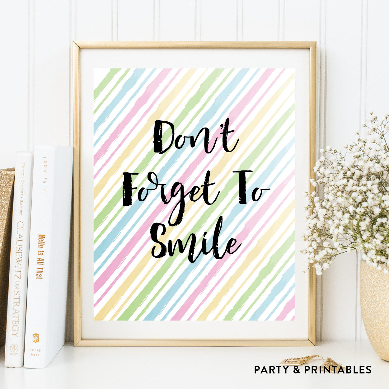 Don't Forget To Smile Wall Art / Instant Download (WA.39), wall art - Party and Printables