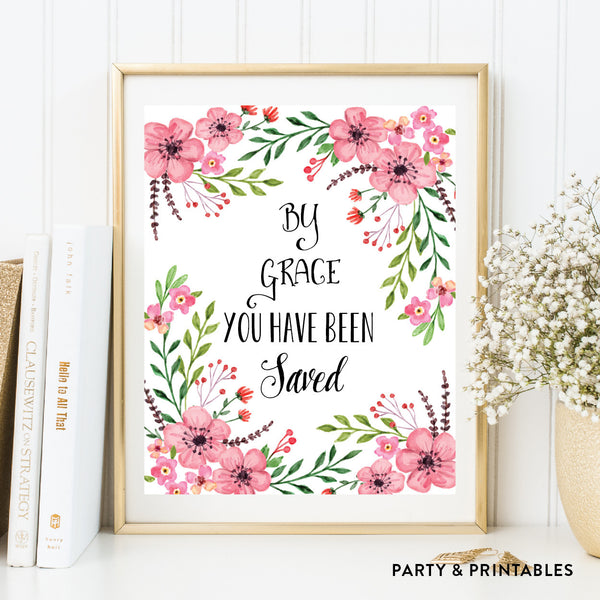 By Grace You Have Been Saved Wall Art / Instant Download (WA.42), wall art - Party and Printables