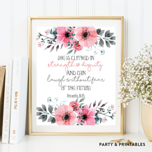 Proverbs 31:25 Wall Art / Instant Download (WA.43)