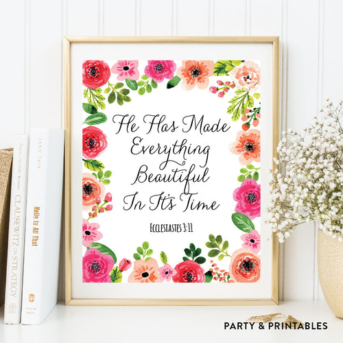 Ecclesiastes 3:11 Wall Art / Instant Download (WA.46)