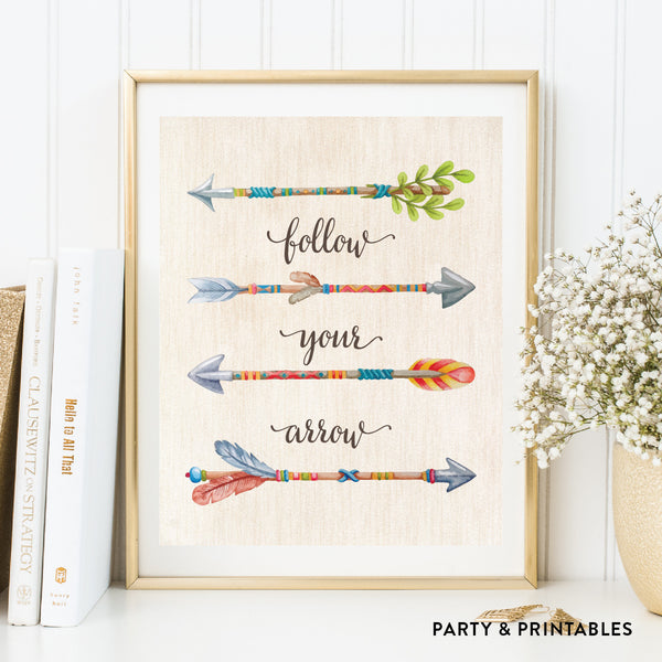 Follow Your Arrows Wall Art / Instant Download (WA.49), wall art - Party and Printables