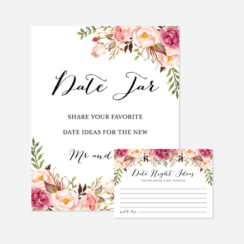 Pink Floral Wedding Date Night Ideas