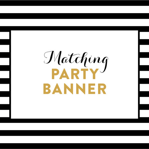 Matching Party Banner / Made to Order