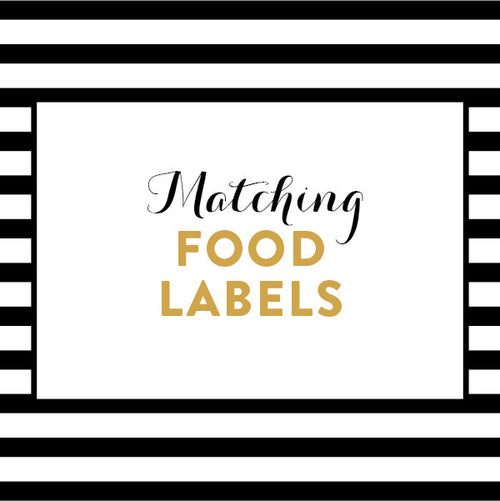 Matching Food Labels / Made to Order