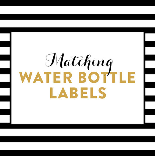 Matching Water Bottle Labels / Made to Order