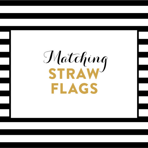 Matching Straw Flags / Made to Order