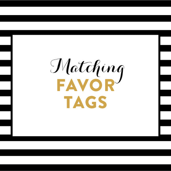 Matching Favor Tags / Made to Order