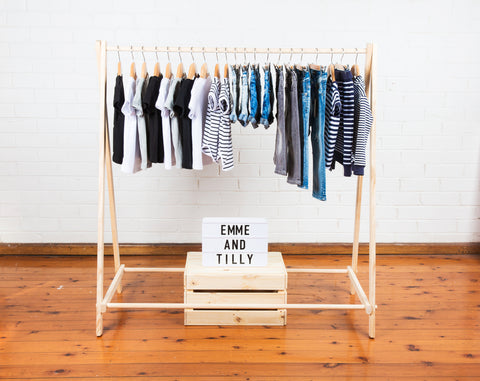 Emme and Tilly clothes rack