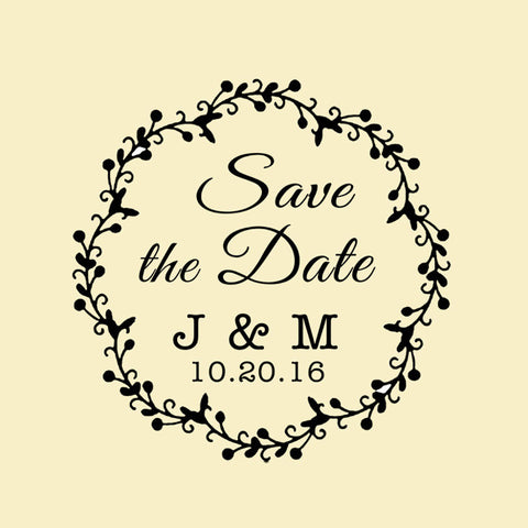 wr08 custom self inking wedding stamp save the date stamp branch