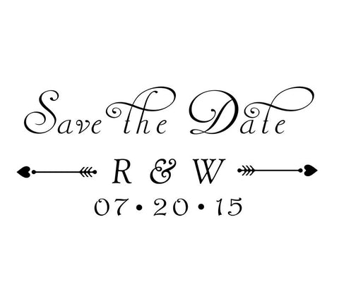 ws11 custom self inking wedding stamp save the date stamp with