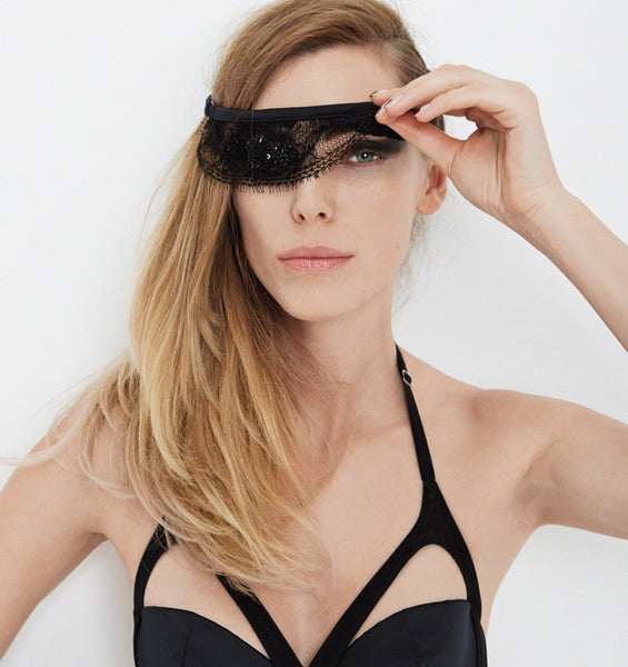 Sarah Lou Blindfold Black