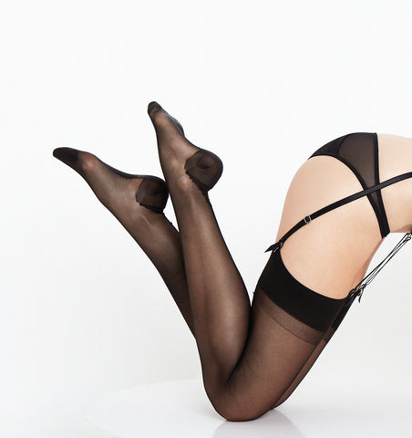 Lascivious Seamed Stockings Black
