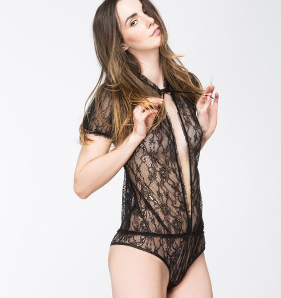 KRISS SOONIK LACE BODY – BLACK
