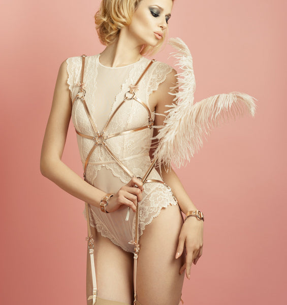 LOLITA PLAYSUIT - ROSE GOLD