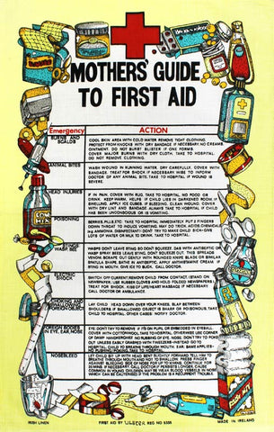 Mother's Guide to First Aid tea towel